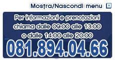 Per informazioni e prenotazioni telefona al +39 0815.068.048